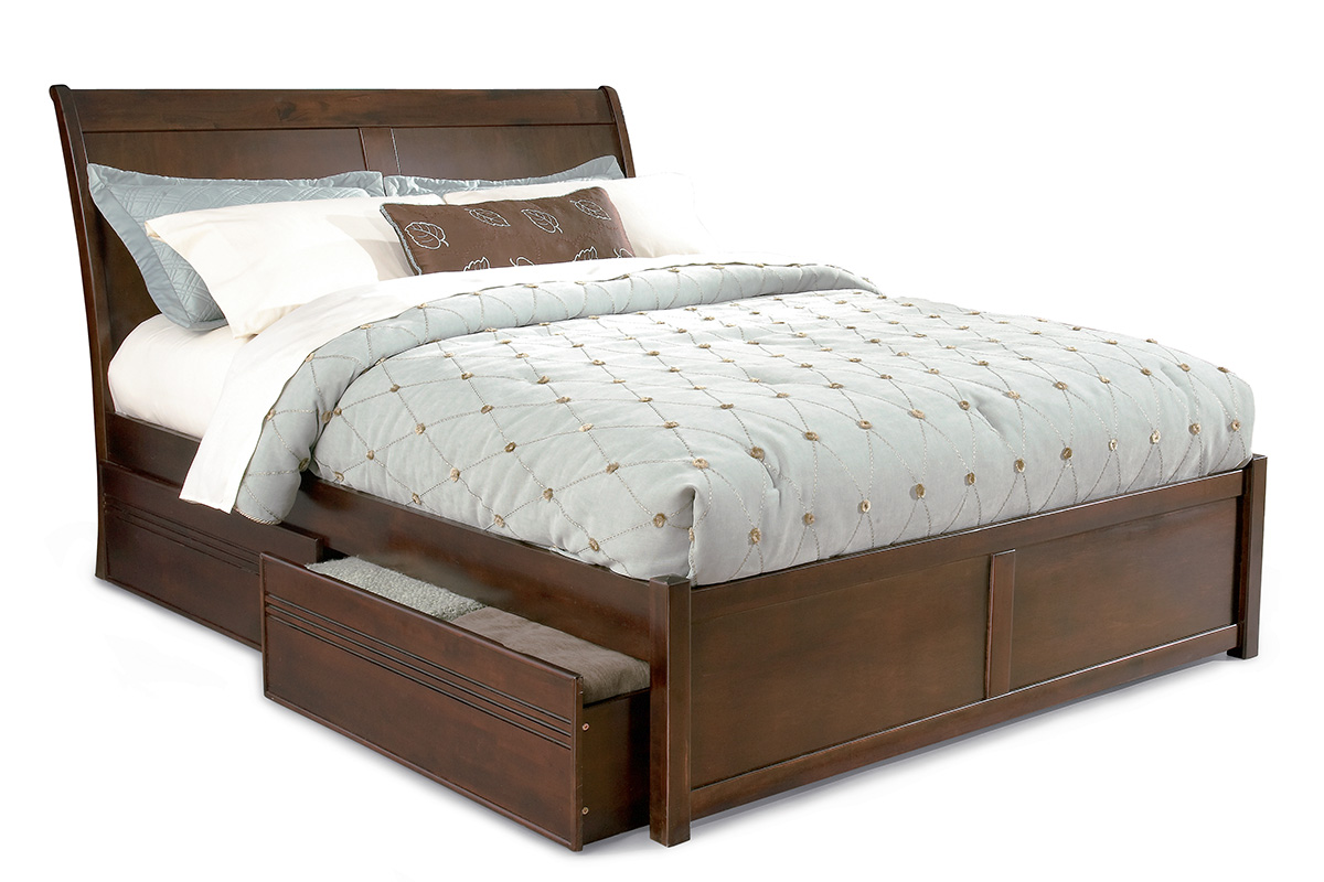 Bordeaux Platform Bed Flat Panel Footboard