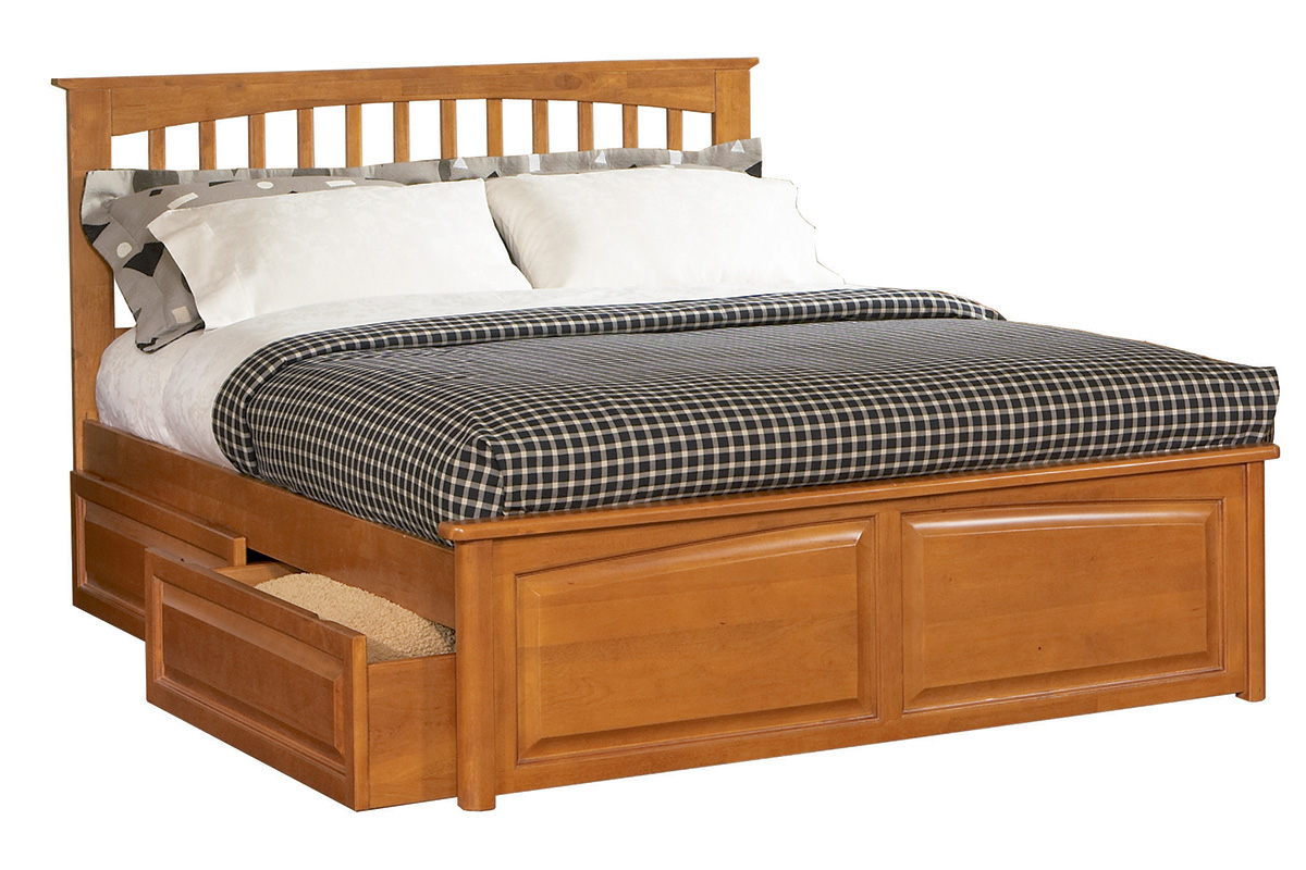 Brooklyn Platform Bed Raised Panel Footboard