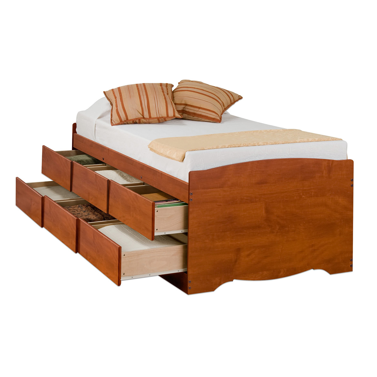 Captain S Storage Platform Bed Cherry