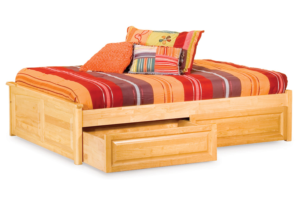 Classic Concord Platform Bed Raised Panel Footboard