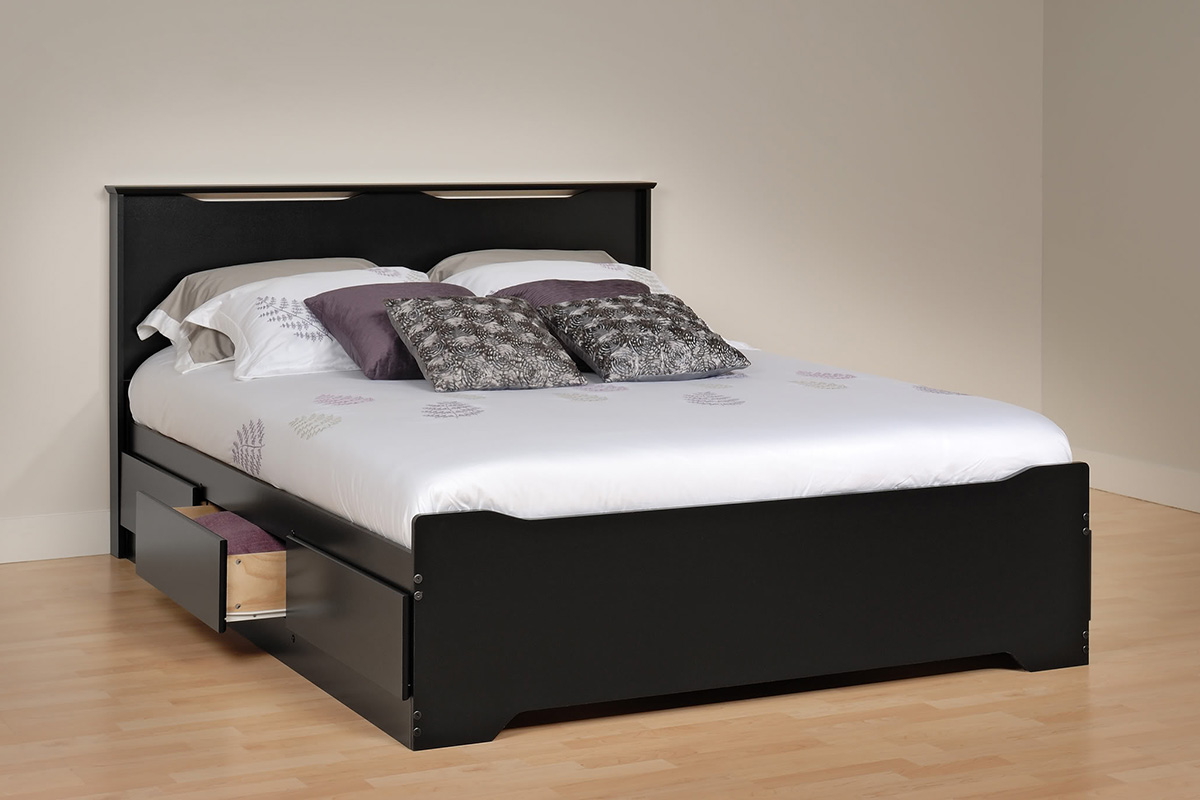 Coal Harbor Storage Platform Bed Black