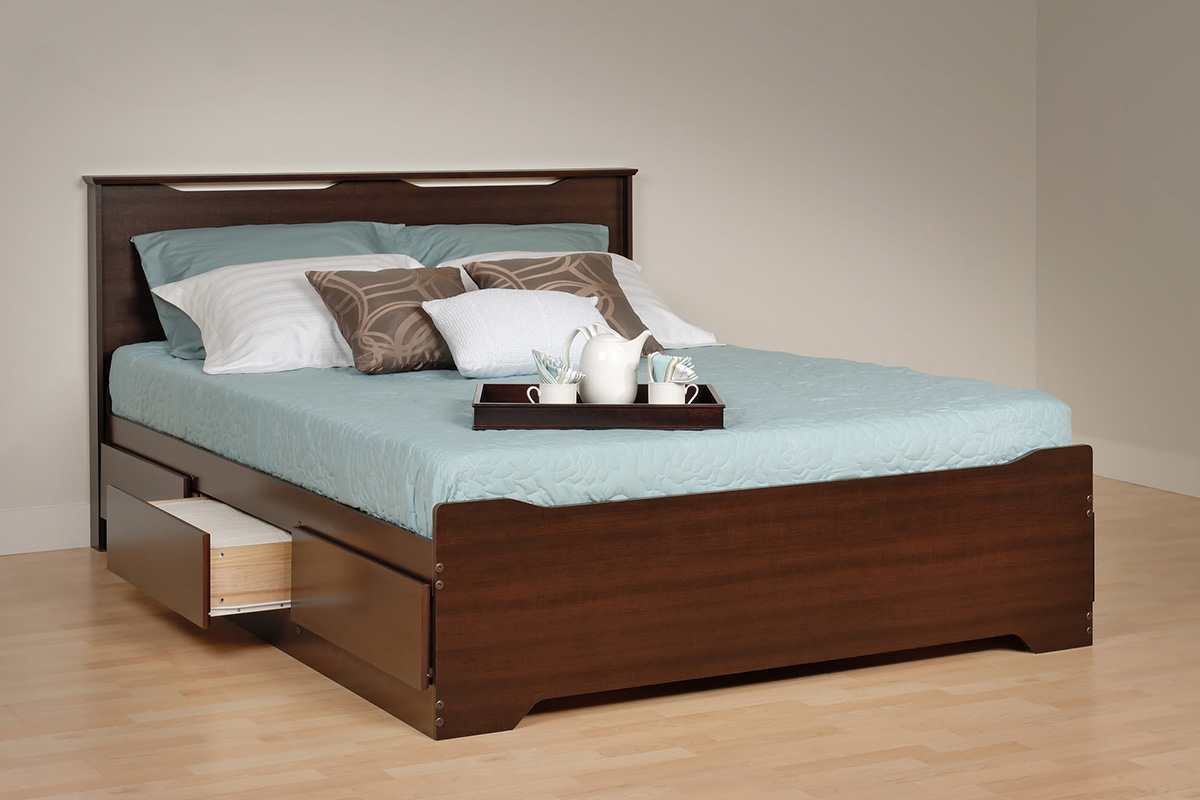 Coal Harbor Storage Platform Bed Espresso