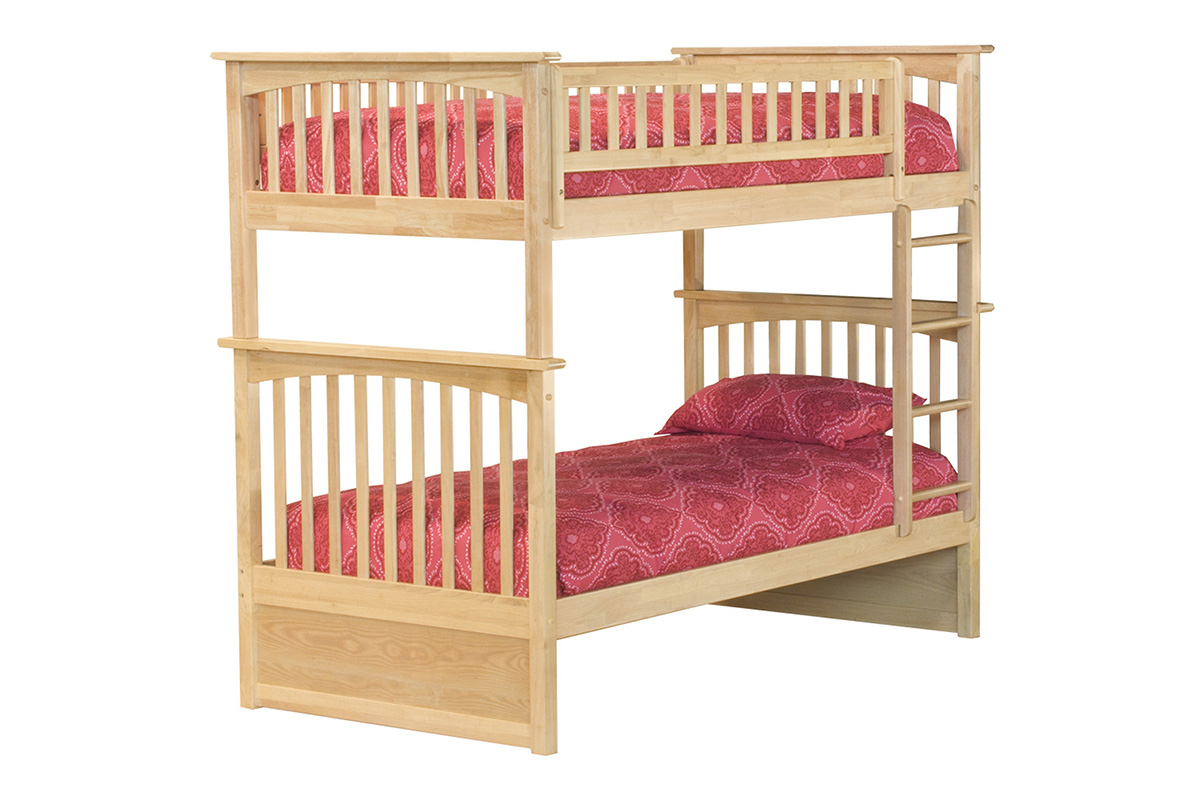 Columbia Twin Twin Bunk Bed Natural Ab55105