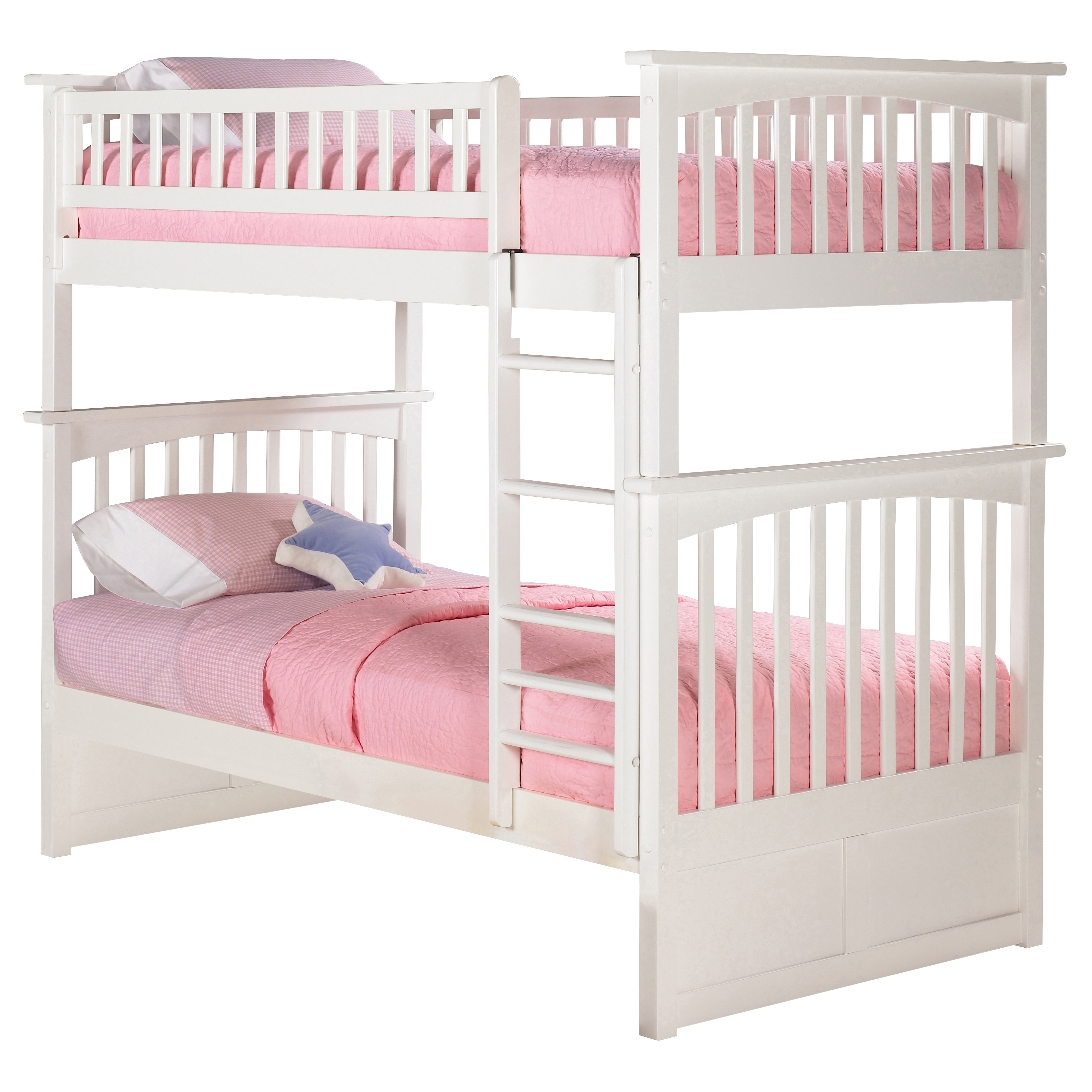 Columbia Twin Twin Bunk Bed White Ab55102