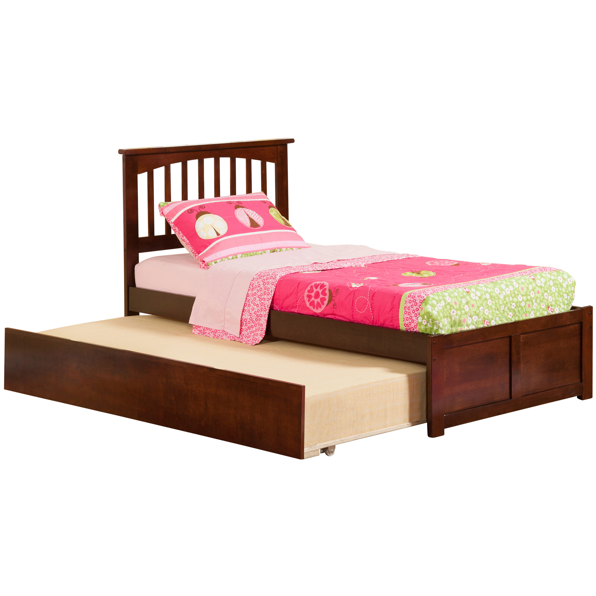 Mission Platform Bed With Flat Panel Footboard Antique