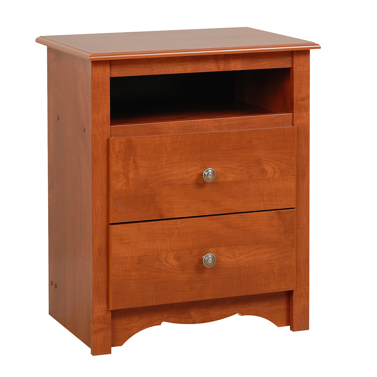 Monterey 2 Drawer Tall Nightstand Cherry Cdc 2428