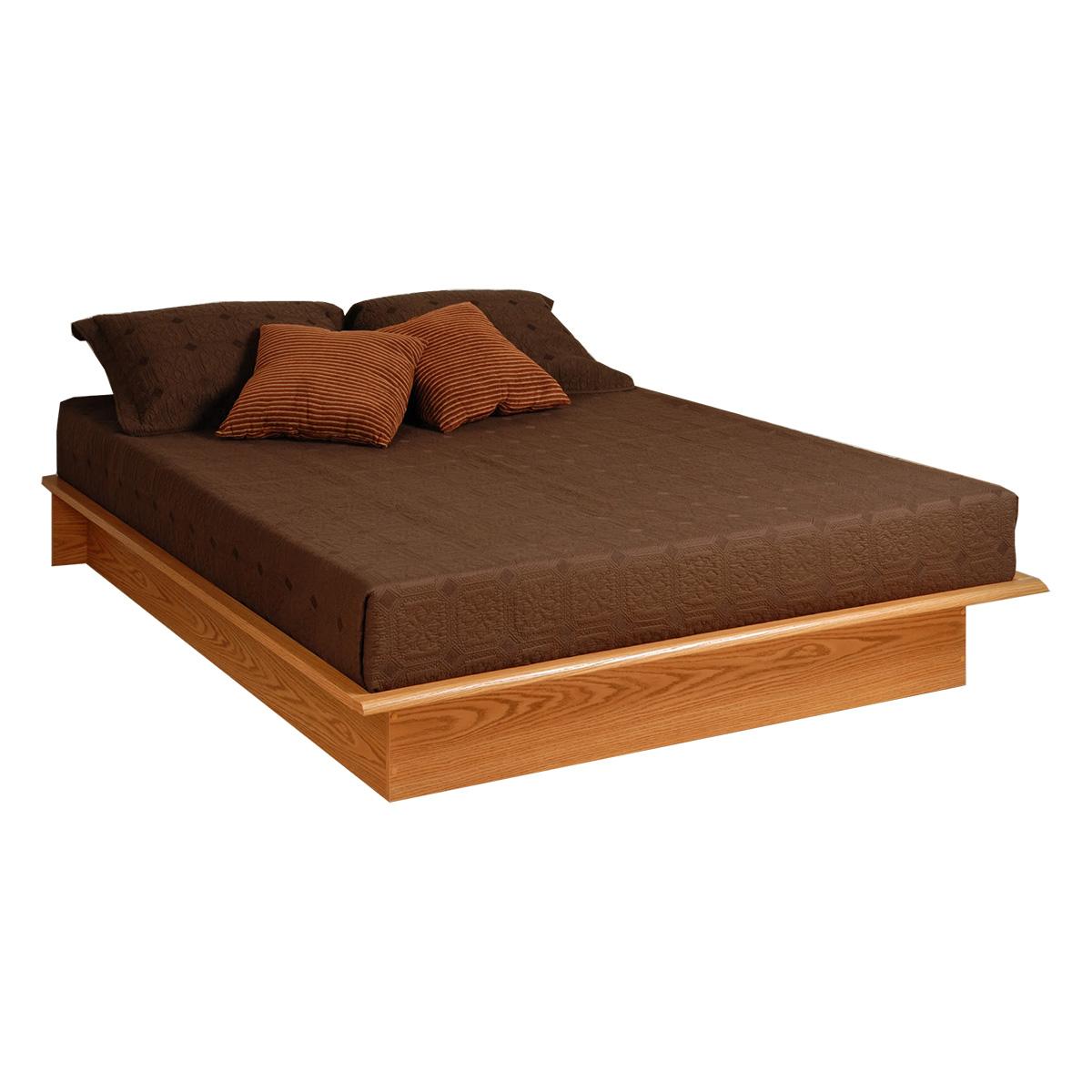 Leather Bed Oak Beds Und: Prepac Platform Bed