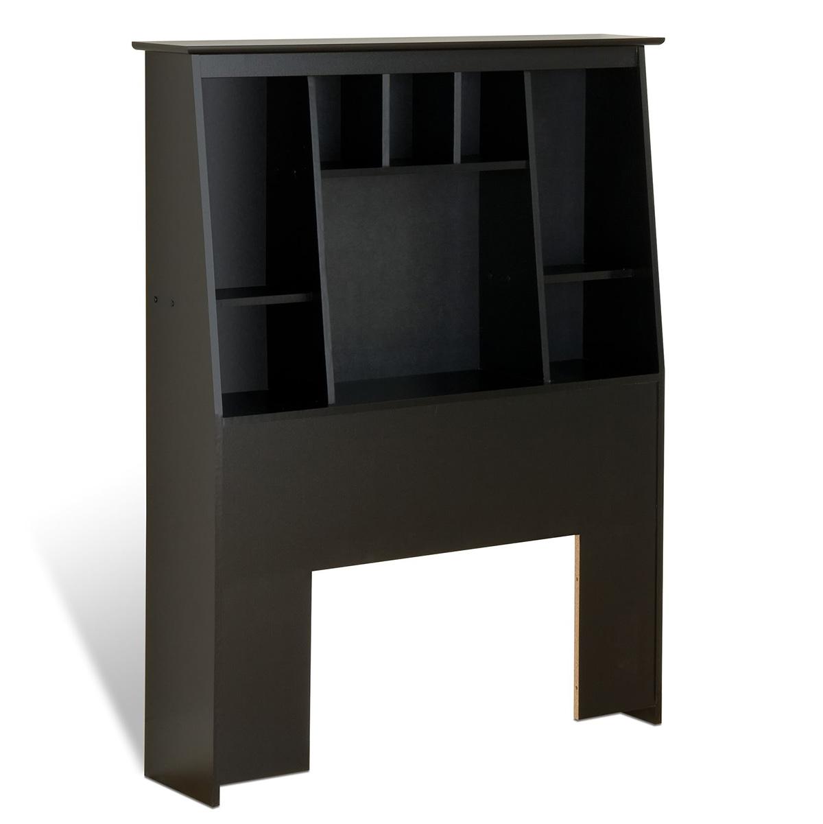 Prepac Slant Back Bookcase Headboard Black