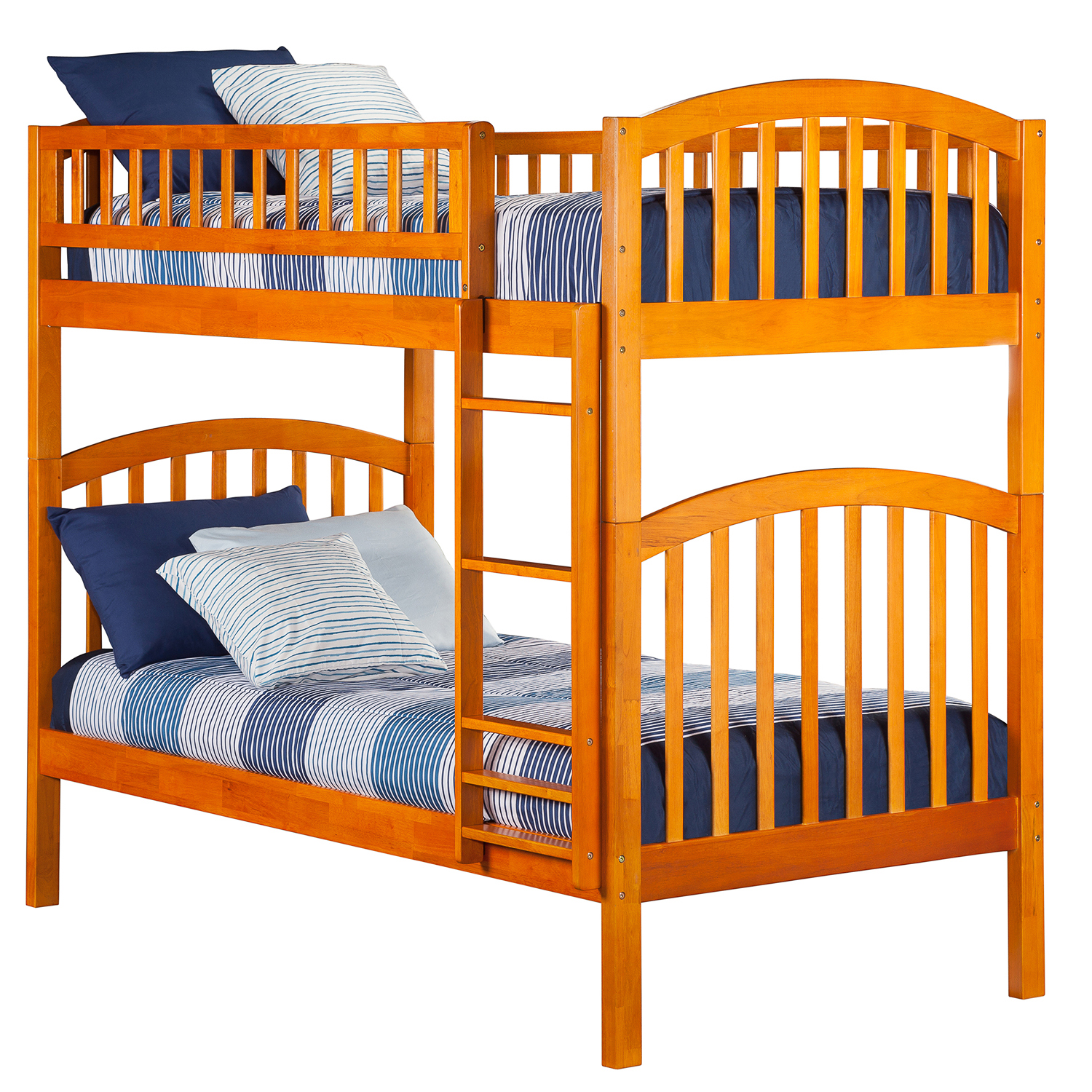 Richland Twin Twin Bunk Bed Caramel Latte Ab64107