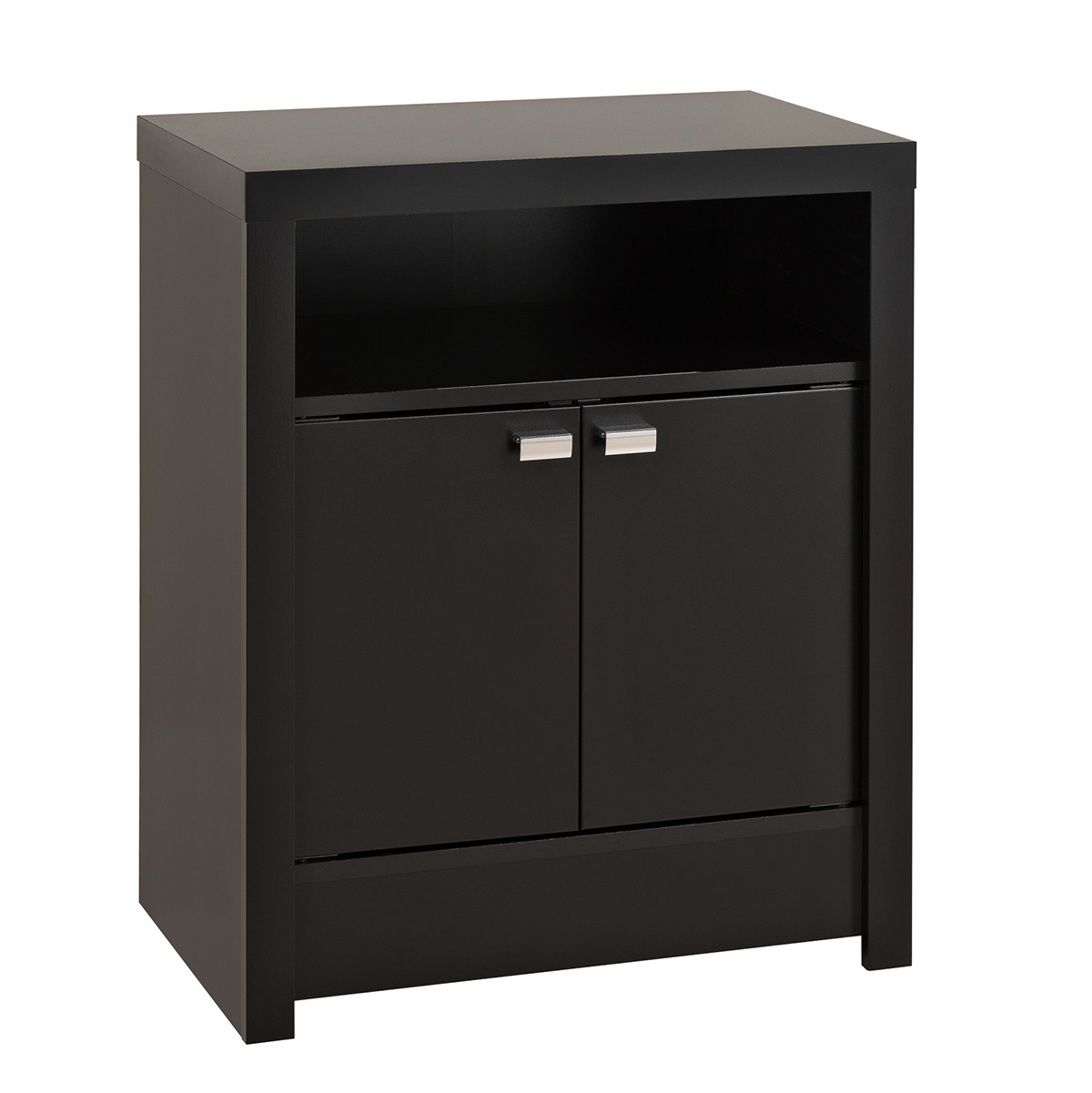 Series 9 2 Door Tall Nightstand Black Bdnh 0502 1