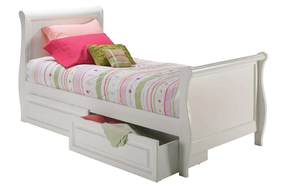 sleigh platform bed