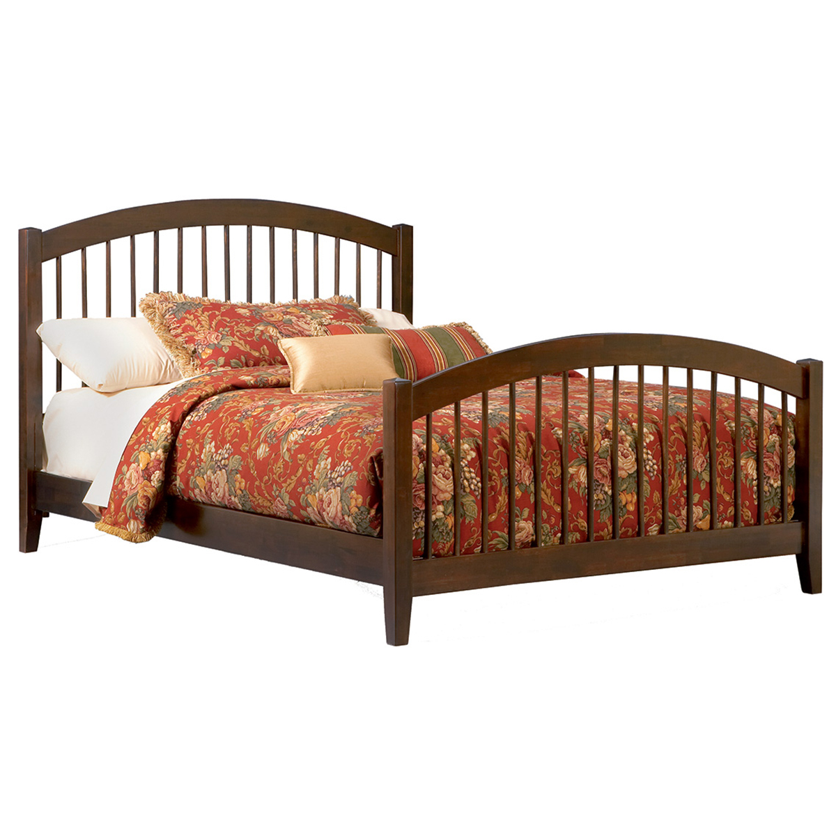 Windsor Traditional Bed With Matching Footboard Antique