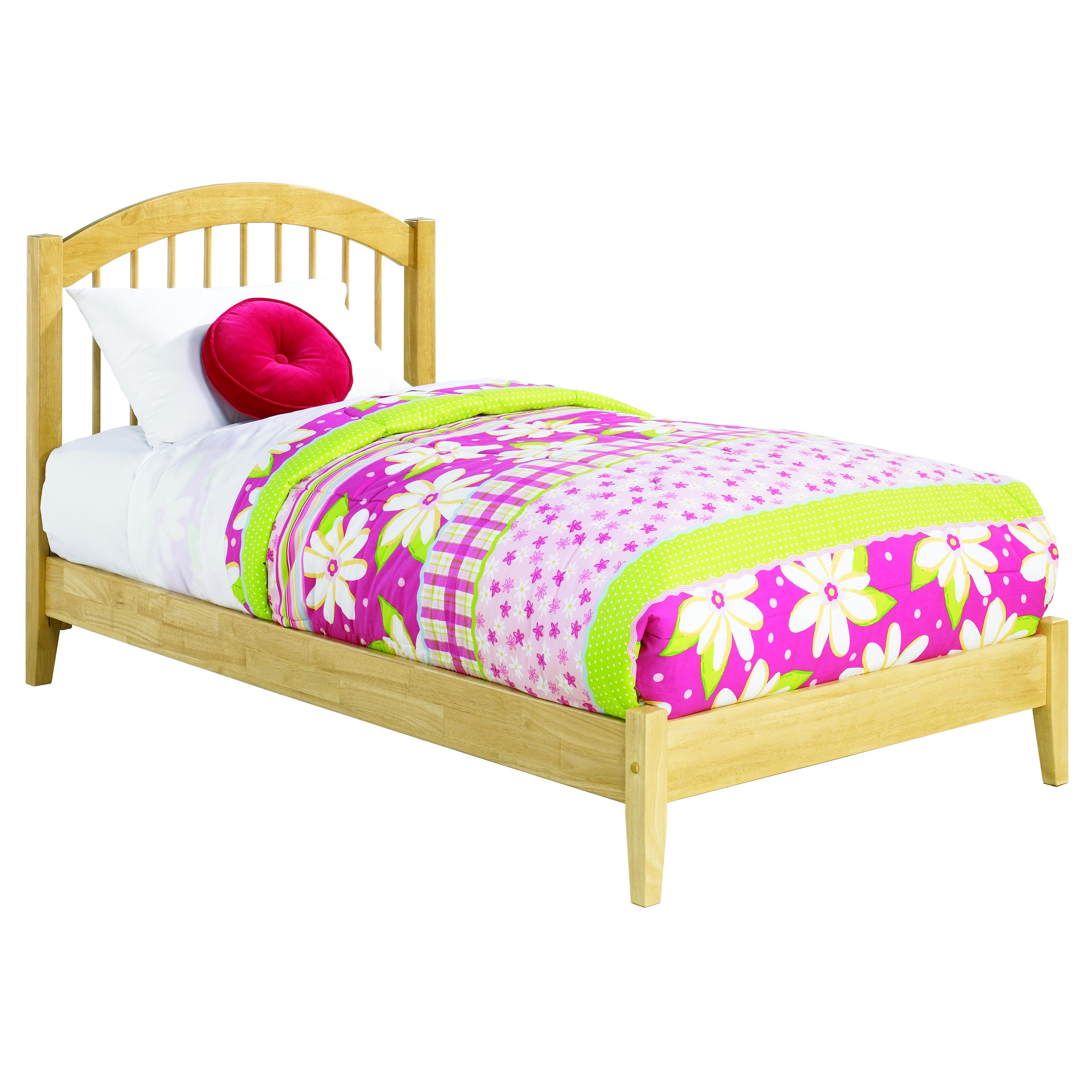 Windsor Platform Bed With Open Footrails Natural