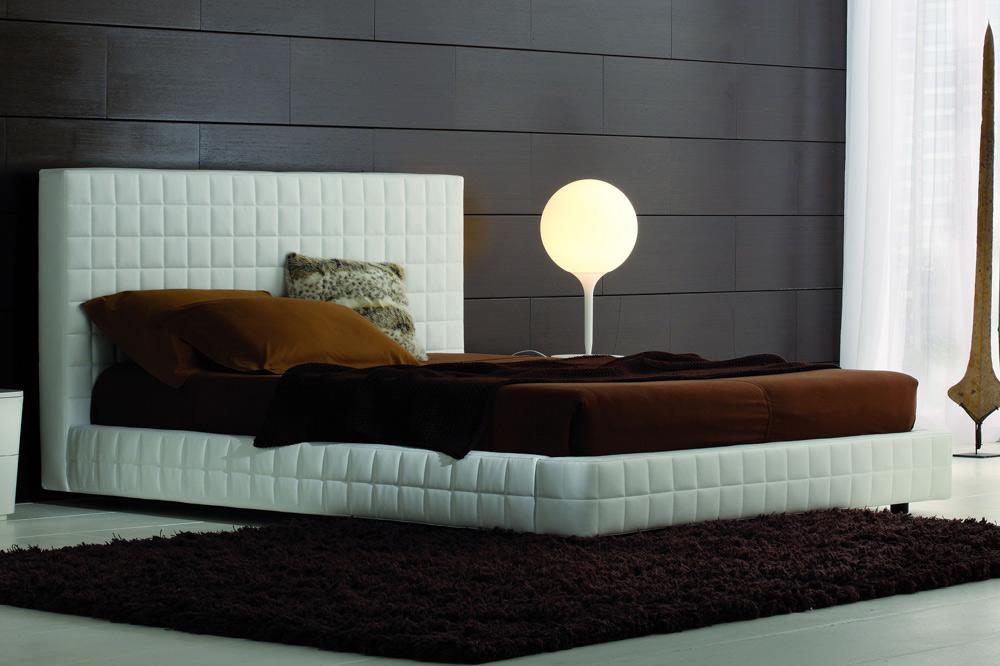 structure leather platform bed. Black Bedroom Furniture Sets. Home Design Ideas