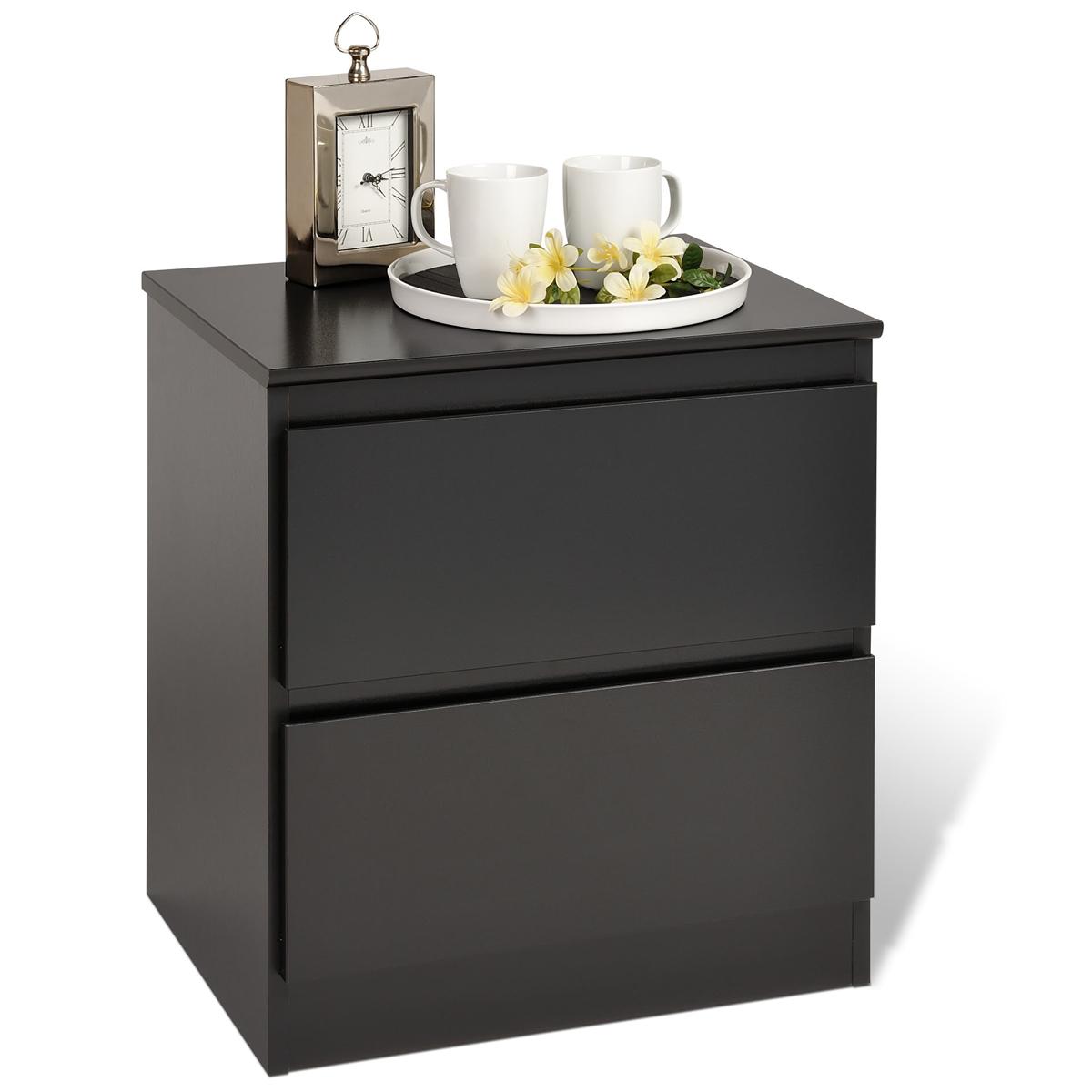 central park 2 drawer nightstand. Black Bedroom Furniture Sets. Home Design Ideas