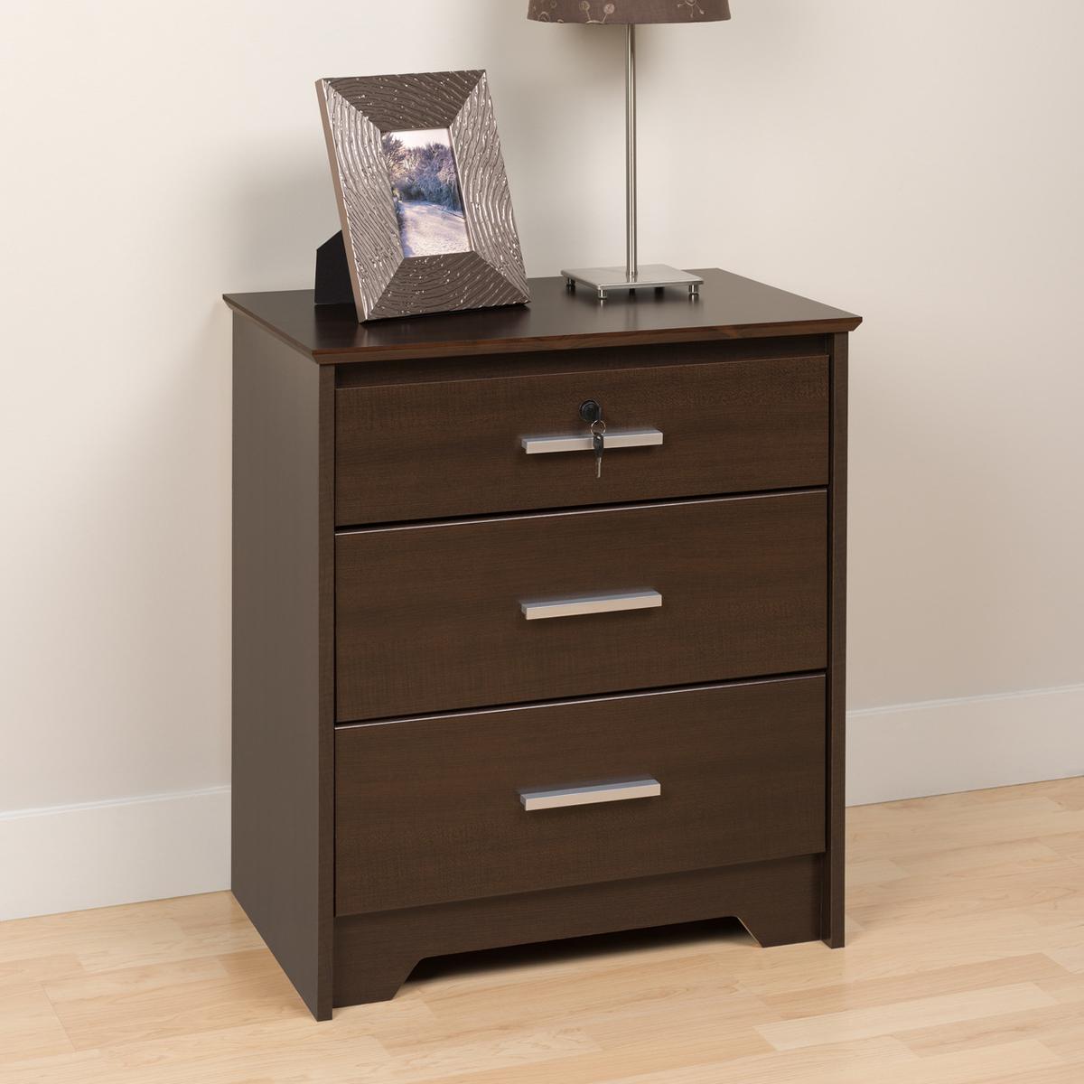 rosie 3 drawer nightstand. Black Bedroom Furniture Sets. Home Design Ideas