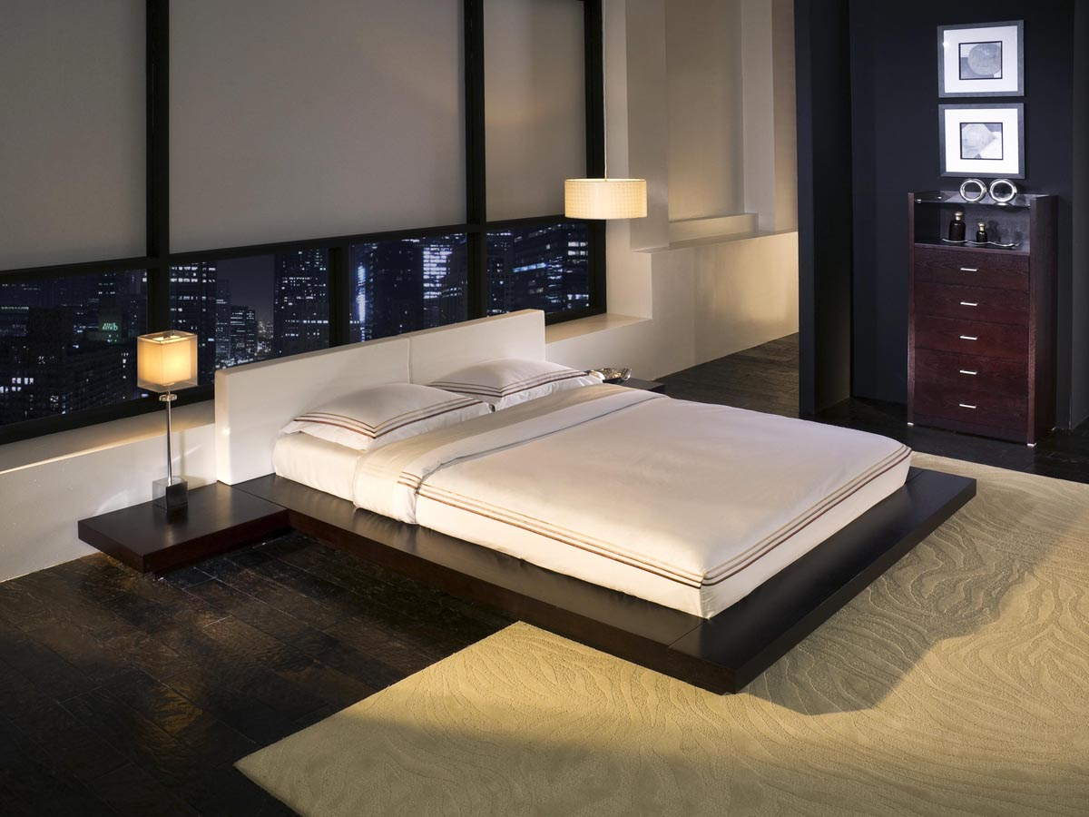 Tokyo platform bed for Asian inspired bedroom furniture