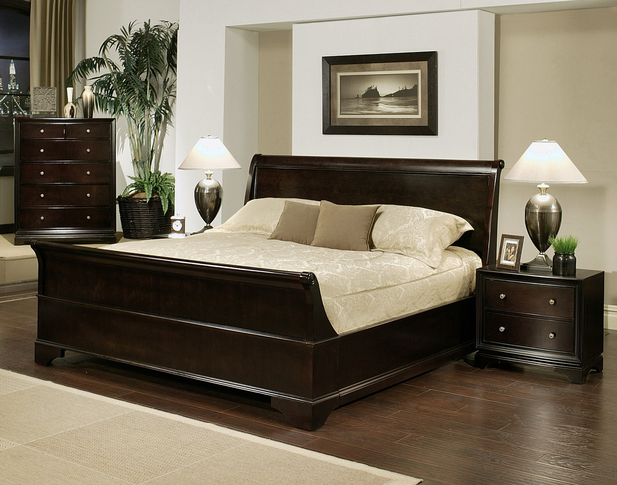 4 Pc. Cooper Sleigh Bed Set - PBO-ABBL139-38-37 ...