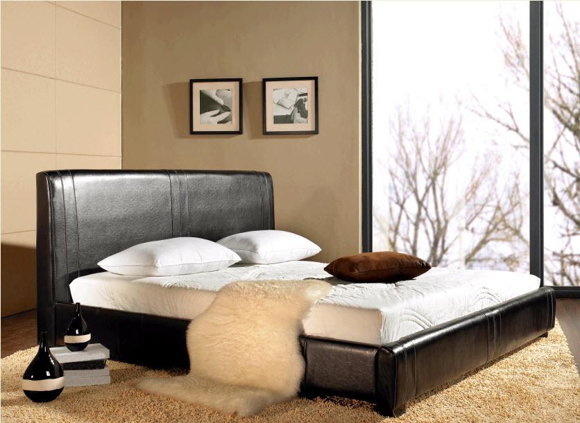 Egan Leather Platform Bed