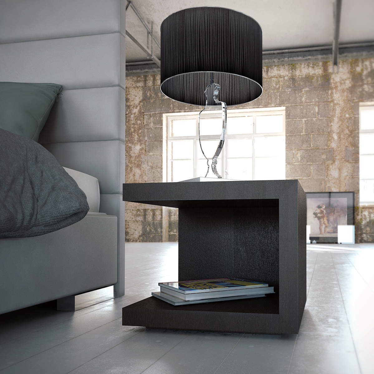 Chic modern nightstand Simple bedside table designs