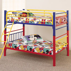 Cartoon Town Twin Twin Bunk Bed
