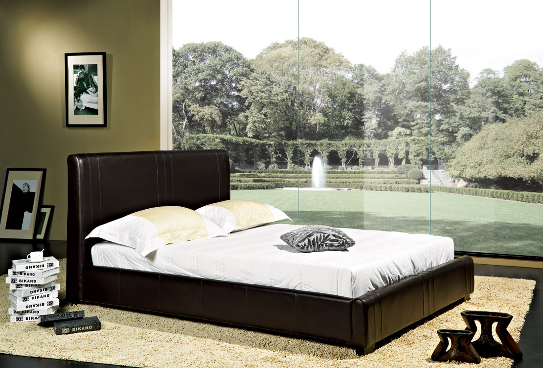 catalina leather platform bed