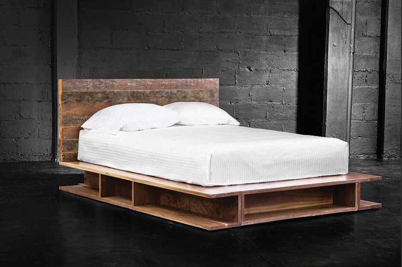 reclaimed wood platform bed wb designs - Reclaimed Wood Bed. . Style Platform Bed. Vintage Fir Gustavian