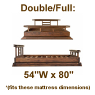 Double/Full Platform Beds