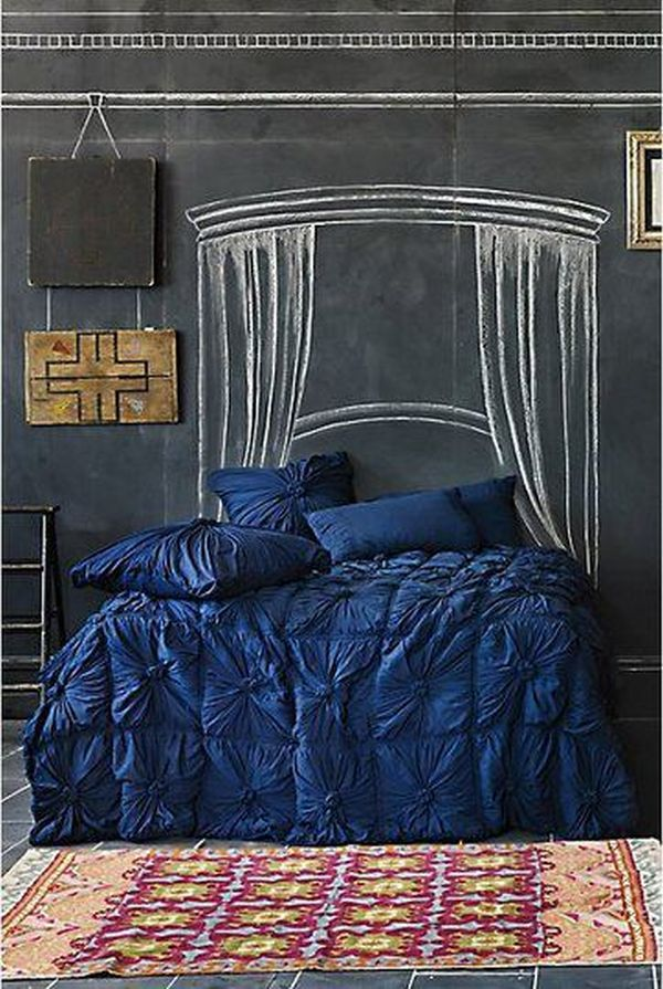 Teen Bedroom with Chalkboard Wall.
