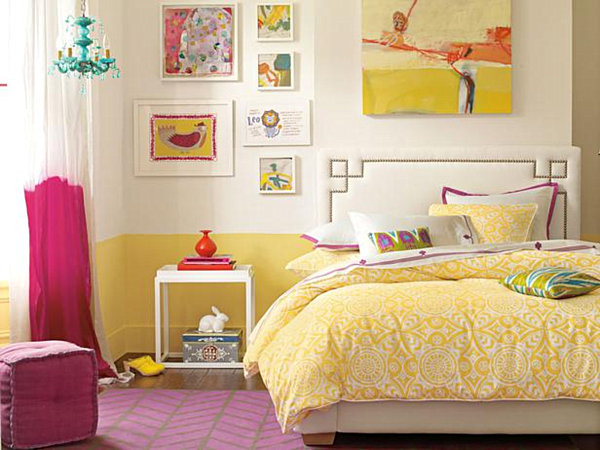 Yellow Bedroom Theme for Teenage Girls