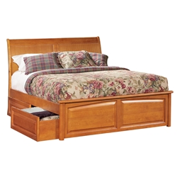 Bordeaux Platform Bed - Raised Panel Footboard Bordeaux Platform Bed - Raised Panel Footboard