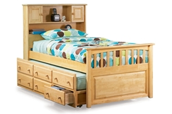 Captains Bookcase Platform Bed Captains Bookcase Platform Bed
