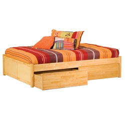 Classic Concord Platform Bed - Flat Panel Footboard Classic Concord Platform Bed - Flat Panel Footboard