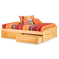 Classic Concord Platform Bed - Raised Panel Footboard Classic Concord Platform Bed - Raised Panel Footboard