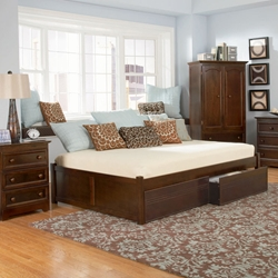Classic Concord Platform Bed Set - Flat Panel Footboard Classic Concord Platform Bed Set - Flat Panel Footboard