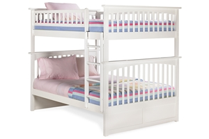 Columbia Full/Full Staircase Bunk Bed Make a clean room and a fun room become one with the Columbia Full/Full Staircase Bunk Bed.