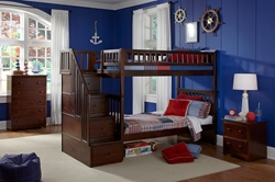 Columbia Twin/Twin Staircase Bunk Bed Columbia Twin/Twin Staircase Bunk Bed