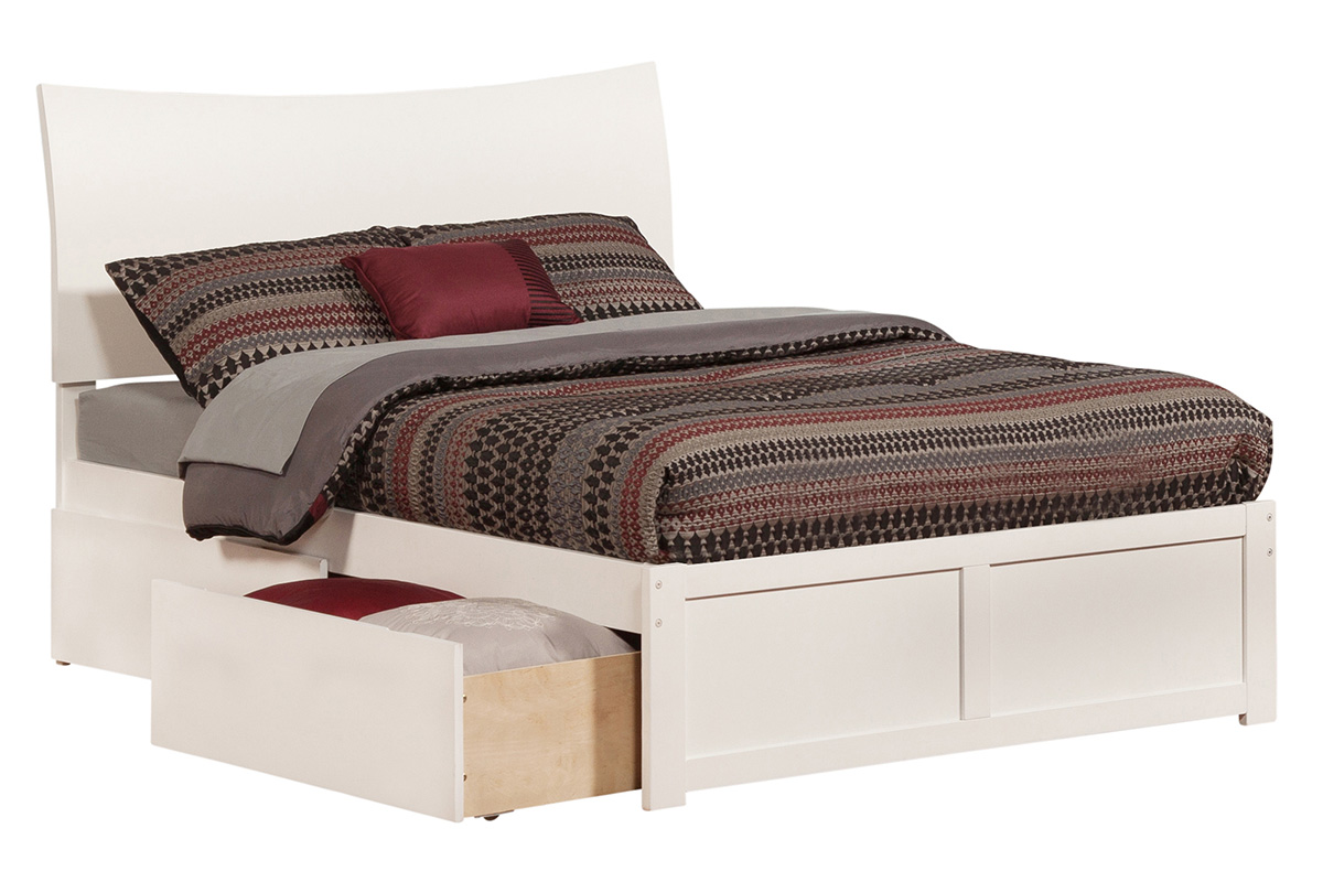Soho Platform Bed Flat Panel Footboard Bed Size Twin Twin Xl Add