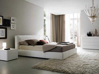 Lancaster Leather Platform Bed Comfort and simplicity come together to form the Lancaster Platform Bed. Its soft-upholstery finished headboard provides you with a soft place to rest your head during late night reading sessions.