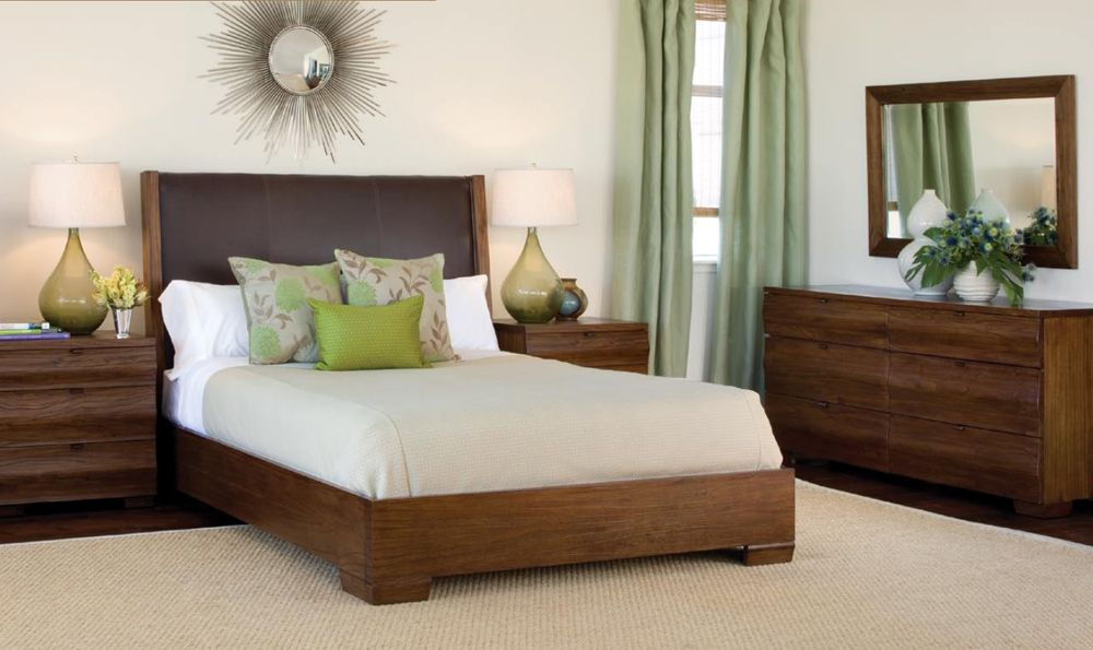 Etonnant Northridge Leather Platform Bed Bedroom Modern Chic Design Style Sturdy  Rustic Chic