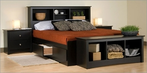 Augusta Deluxe Storage Platform Bed with Headboard Augusta Deluxe Multi-Functional Storage Platform Bed With Headboard