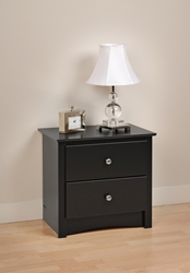 Augusta Nightstand The Augusta Nightstand is a perfect addition to the Augusta Storage Platform Bed. This nighstand offers two drawers of storage space and features a profiled top, side moldings and an arched kick plate. Featuring metal rolling sliders on all drawers for soft and easy use.