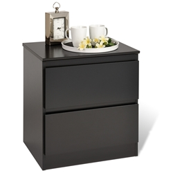 Central Park 2-Drawer Nightstand The Central Park Nightstand is one sleek and modern nightstand that will surely enhance the modern look of your bedroom.