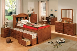 Brenton Captains Bed Bring back the good ol countryside style to your little cowboy or make a wholesome look for your guest bedroom with our Brenton Captains Bed.