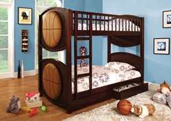 Bryant Twin/Twin Bunk Bed Give your kids the bed of their dreams with a basketball-themed bed like the Bryant Bunk Bed.