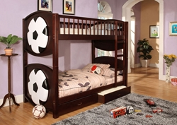 Pele Twin/Twin Bunk Bed To all those little aspiring soccer players out there, the Pele Bunk Bed may be their dream come true!