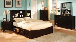 "6 Pc. Christopher Storage Bed Set Full Size - 87"" X 57"" X 51""H Queen Size - 92"" X 63"" X 51"" H California King Size - 96"" X 75"" X 51""H Standard King Size - 92"" X 79"" X 51""H"