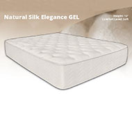 "Natural Silk Elegance 13"" Gel Memory Foam Mattress Offering the most luxurious end of memory foam mattresses, the Silk Elegance Memory Foam Mattress is truly a remarkable mattress for those who want to truly experience an amazing nights sleep time and time again."