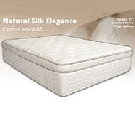 "Natural Silk Elegance Adjustable 15"" Gel Memory Foam Mattress The Natural Silk Elegance Adjustable Memory Foam Mattress offers a unique feature that allows you to adjust your sleeping surface to be firmer or softer, depending on your preference for a comfortable nights sleep."