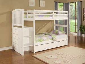 Angeline Twin/Twin Girls Bunk Bed Angeline Twin/Twin Girls Bunk Bed